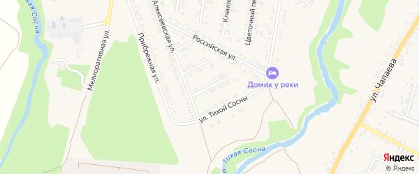 Рябиновый переулок на карте Алексеевки с номерами домов
