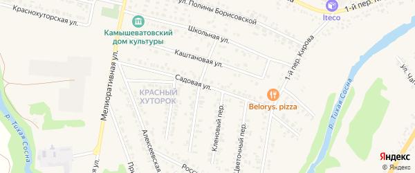 Садовая улица на карте Алексеевки с номерами домов