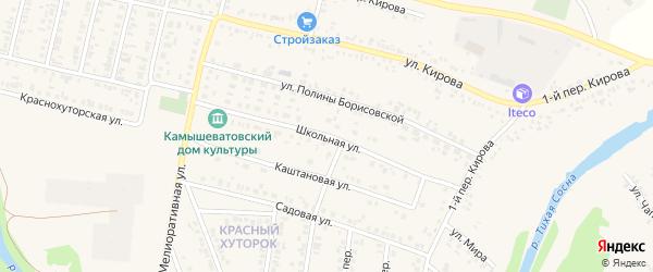 Школьная улица на карте Алексеевки с номерами домов