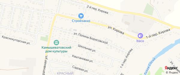Улица П.Борисовской на карте Алексеевки с номерами домов