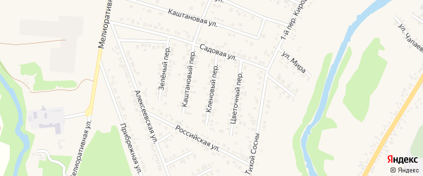 Кленовый переулок на карте Алексеевки с номерами домов