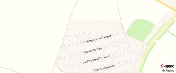 Пасечный проезд на карте Алексеевки с номерами домов