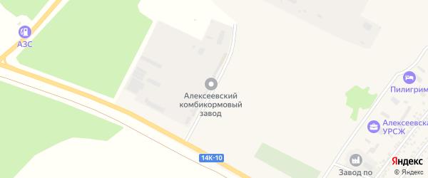 Магистральная улица на карте Алексеевки с номерами домов