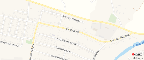 Улица Кирова на карте Алексеевки с номерами домов