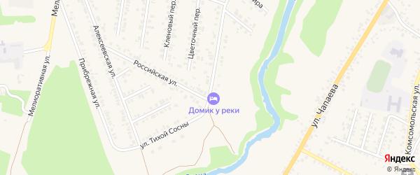 Улица Тихой Сосны на карте Алексеевки с номерами домов