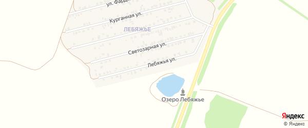 Лебяжья улица на карте Алексеевки с номерами домов