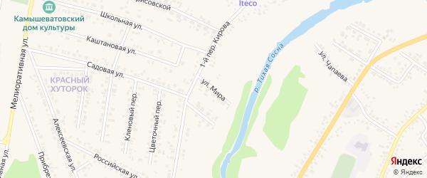 Улица Мира на карте села Сероштаново с номерами домов
