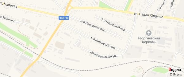 1-й Народный переулок на карте Алексеевки с номерами домов