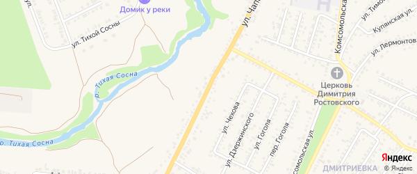Переулок 2-й Чапаева на карте Алексеевки с номерами домов