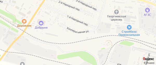 Кооперативная улица на карте Алексеевки с номерами домов