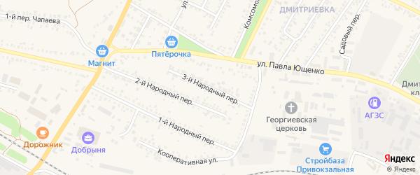 3-й Народный переулок на карте Алексеевки с номерами домов