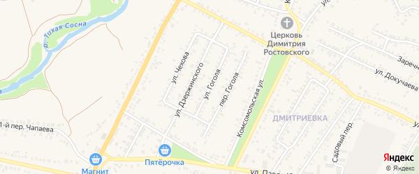 Улица Гоголя на карте Алексеевки с номерами домов