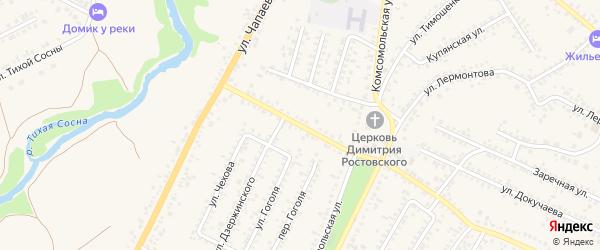 Молодогвардейская улица на карте Алексеевки с номерами домов