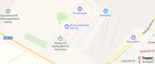 Молодежная улица на карте Алексеевки с номерами домов