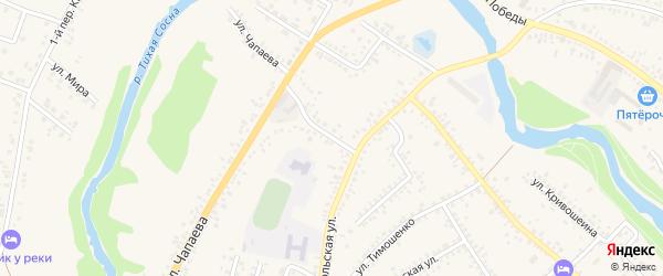 Переулок Чапаева на карте Алексеевки с номерами домов