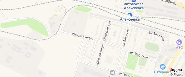 Юбилейная улица на карте Алексеевки с номерами домов