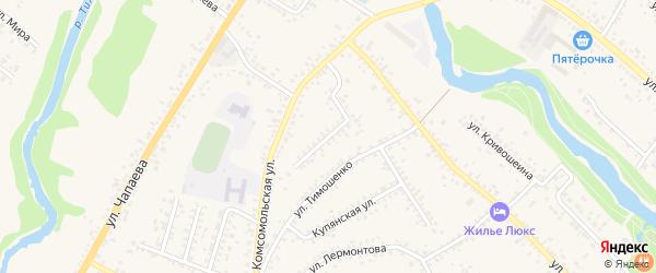 Комсомольский переулок на карте Алексеевки с номерами домов