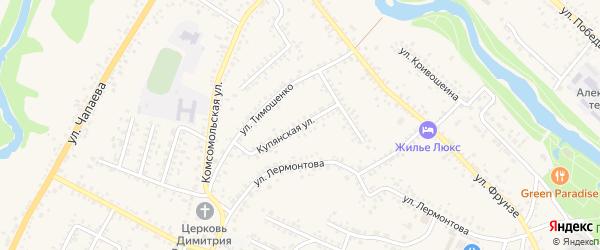 Купянская улица на карте Алексеевки с номерами домов
