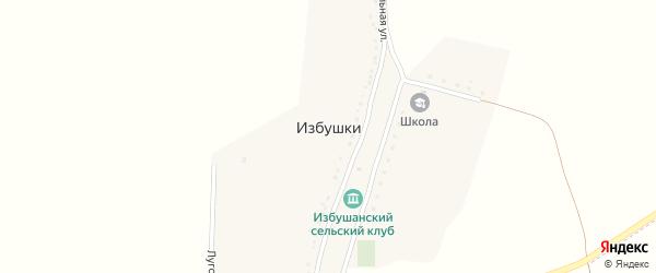 Луговая улица на карте хутора Избушки с номерами домов