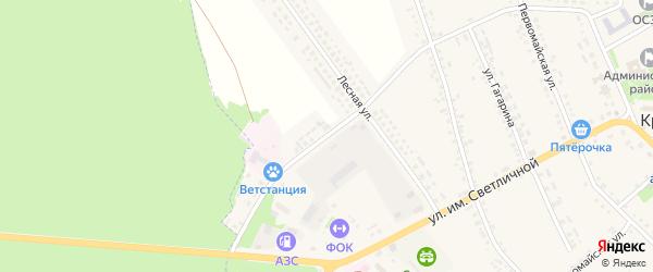 Лесной переулок на карте Красного села с номерами домов