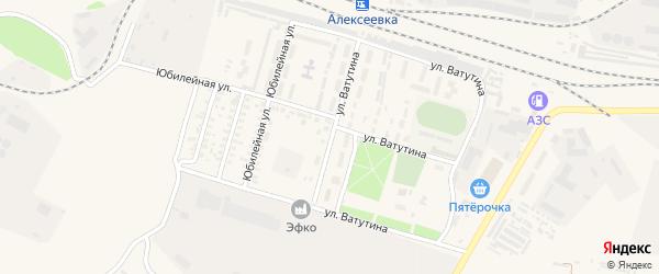 Улица Ватутина на карте Алексеевки с номерами домов