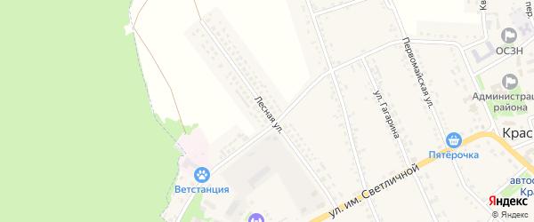 Лесная улица на карте Красного села с номерами домов