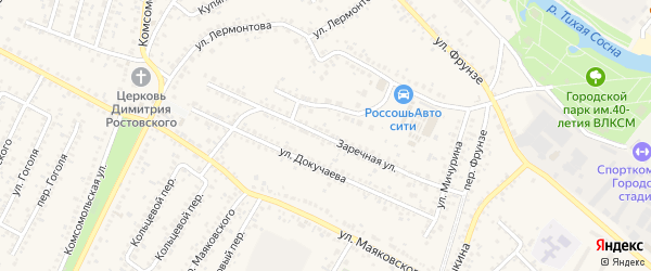 Заречная улица на карте Алексеевки с номерами домов