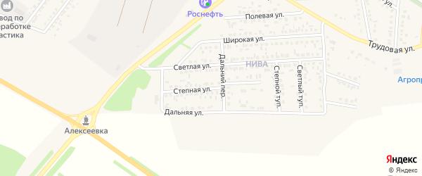 Степная улица на карте Алексеевки с номерами домов