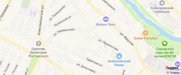 Улица Лермонтова на карте Алексеевки с номерами домов