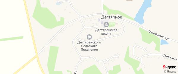Центральный переулок на карте Дегтярного села с номерами домов