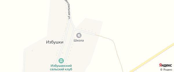Садовый переулок на карте хутора Избушки с номерами домов