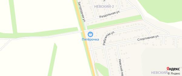 Загородная улица на карте Алексеевки с номерами домов
