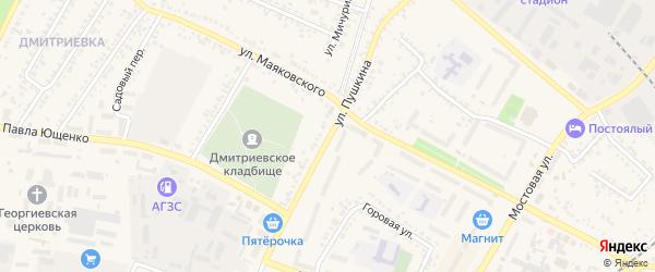 Улица Пушкина на карте Алексеевки с номерами домов