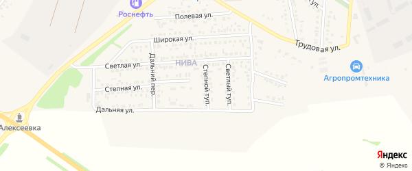 Степной тупик на карте Алексеевки с номерами домов