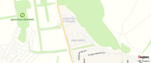 Карта поселка Опытной станции города Алексеевки в Белгородской области с улицами и номерами домов