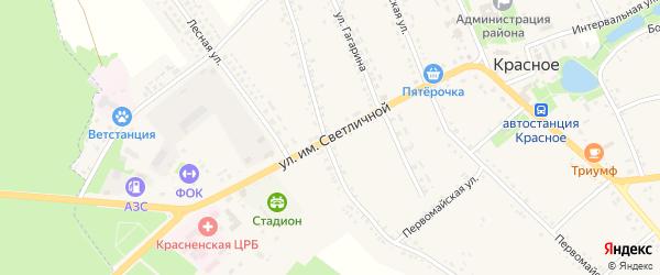 Улица им Светличной на карте Красного села с номерами домов
