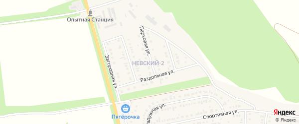 Парковая улица на карте Алексеевки с номерами домов