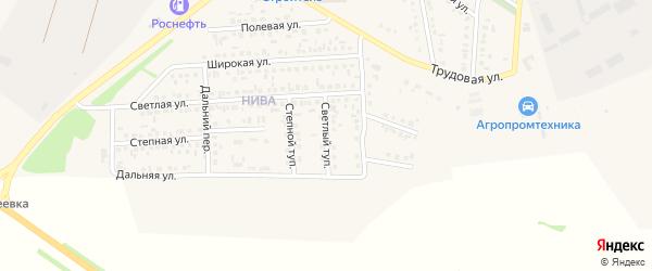 Светлый тупик на карте Алексеевки с номерами домов