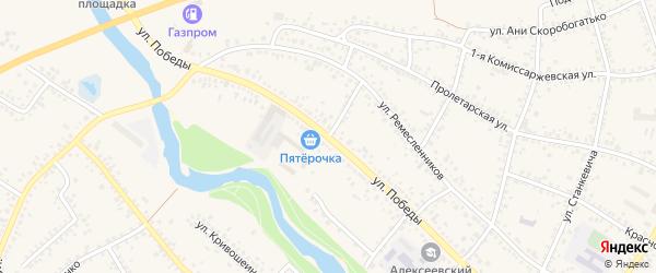 Переулок Ремесленников на карте Алексеевки с номерами домов