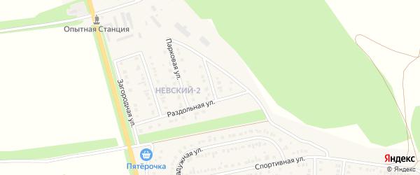 Раздольный переулок на карте Алексеевки с номерами домов