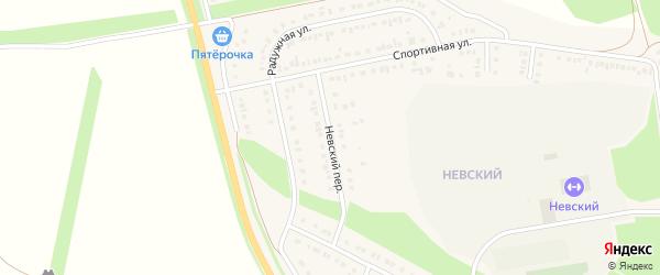 Невский переулок на карте Алексеевки с номерами домов