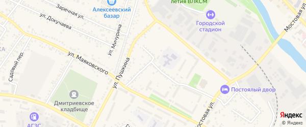 Переулок 2-й Маяковского на карте Алексеевки с номерами домов