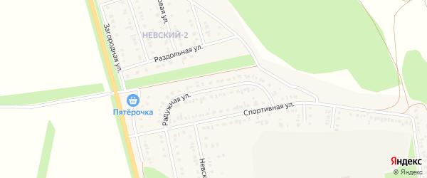 Радужная улица на карте Алексеевки с номерами домов