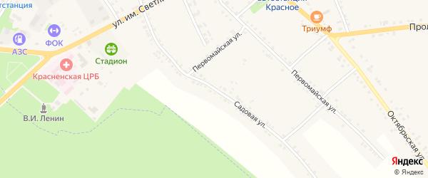 Садовая улица на карте Красного села с номерами домов