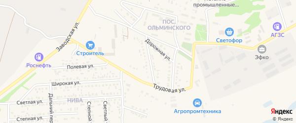 Промышленная улица на карте Алексеевки с номерами домов