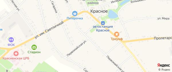 Первомайская улица на карте Красного села с номерами домов