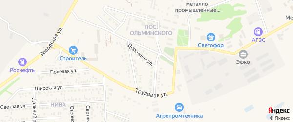 Дорожная улица на карте Алексеевки с номерами домов
