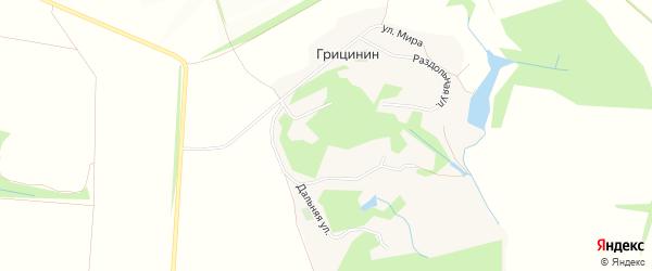 Карта хутора Грицинина в Белгородской области с улицами и номерами домов