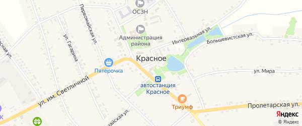 Площадь Им М.Светличной на карте Красного села с номерами домов