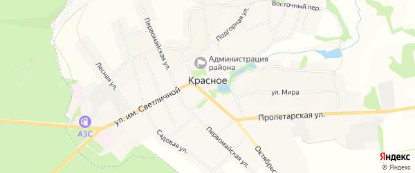 Карта Красного села в Белгородской области с улицами и номерами домов